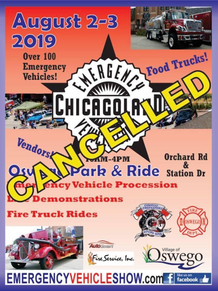 22nd Chicagoland Emergency Vehicle Show cancelled
