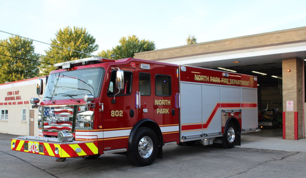 Rosenbauer America Commander fire engine