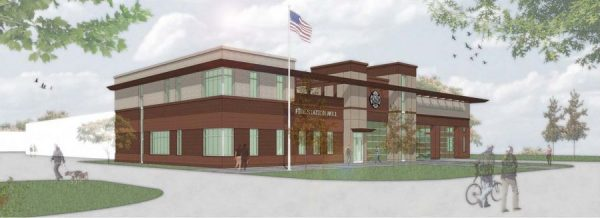 artist rendering of new Huntley FPD fire station