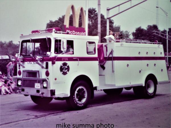 vintage Mack MB fire truck