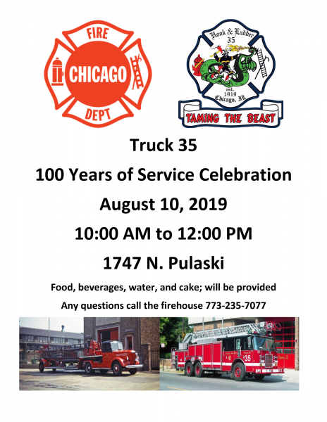 Centennial celebration for Chicago FD Truck 35