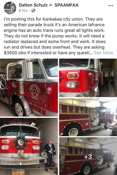 American LaFrance Century Series fire engine for sale