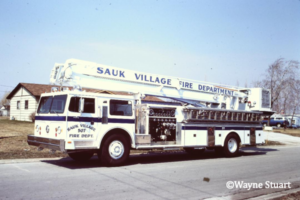 75' Snorkel fire truck