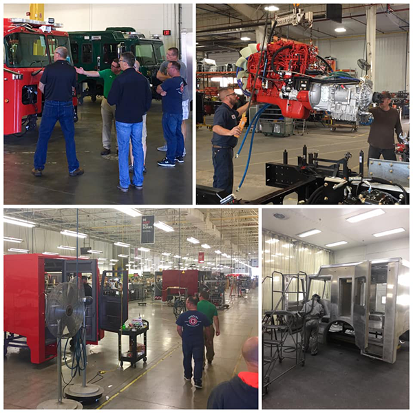Huntley firefighters vist Spartan factory