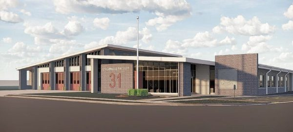 drawing of new stream wood fire station