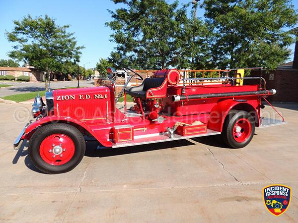 Zion FD antique fire engine