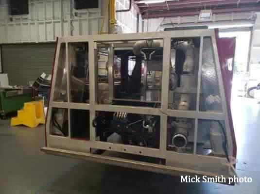 Chicago fire truck being built
