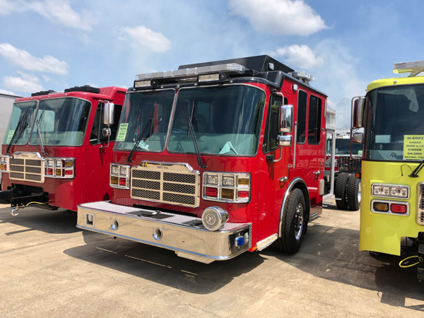 new Ferrara fire engine being built for the Troy FPD