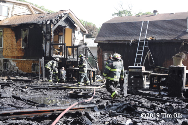 aftermath of a burned out house