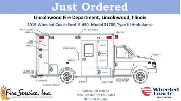 drawing of a new ambulance