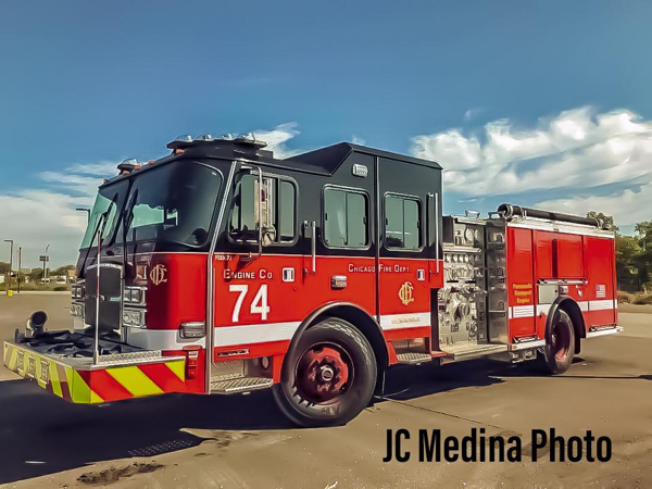 new E-ONE fire engine for the Chicago FD