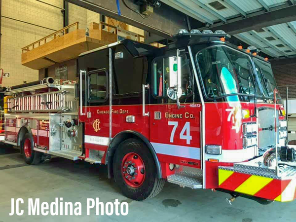 new fire engine for Chicago FD