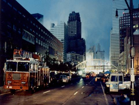 the World Trade Center on the morning of 9/12/01