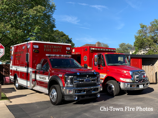 new and old ambulances in Westmont