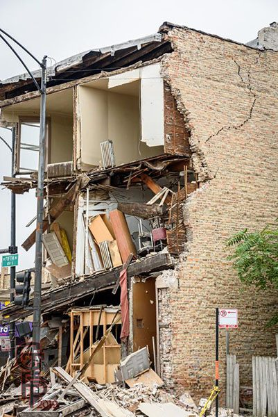 Building collapse at 3959 w Harrison in Chicago, 9/12/19