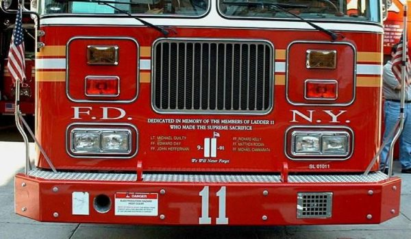 FDNY Ladder 11 after the attacks of 9/11/01
