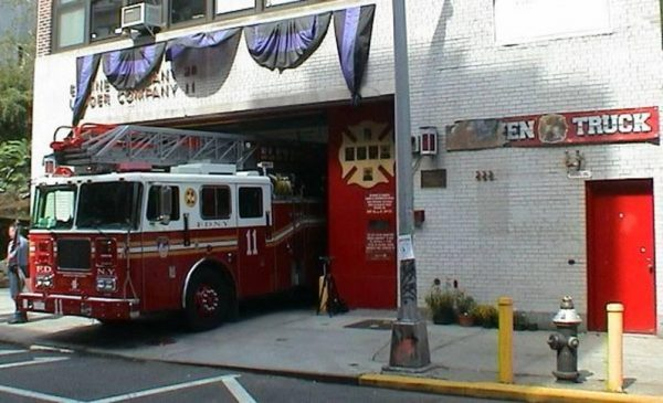 FDNY Ladder 11 one year after the attacks of 9/11/01