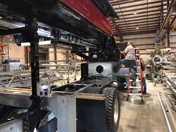 Rosenbauer America fire truck being built