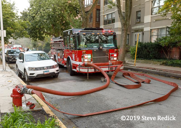 fire engine on a hydrant