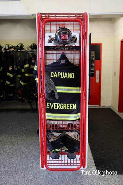 Evergreen Park FD Firefighter Daniel Capuano memorial