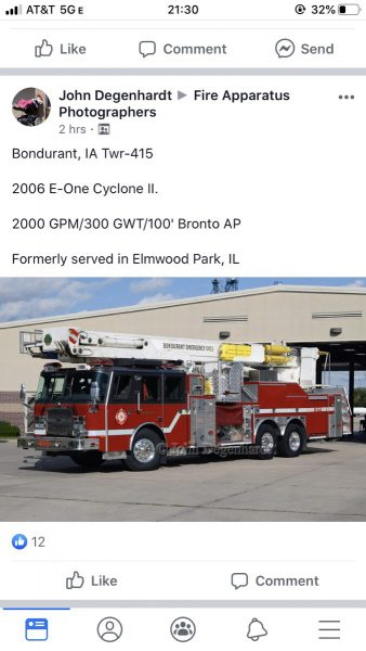 new home for Elmwood Park fire truck