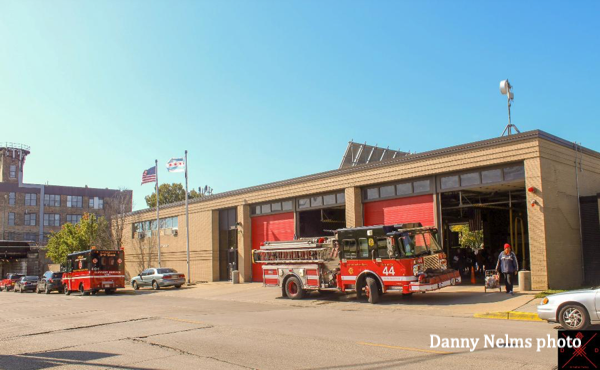 Chicago FD Engine 44 at fire station