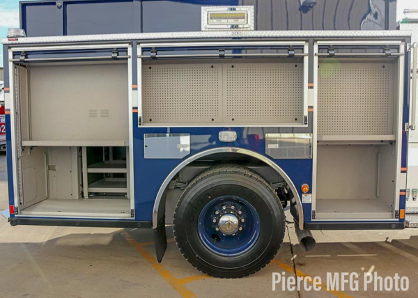 side of new fire engine