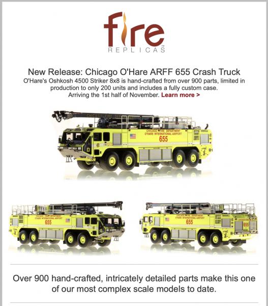 New Chicago Fire Department replica model