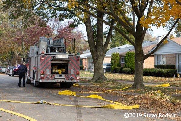 Smeal quint at fire scene