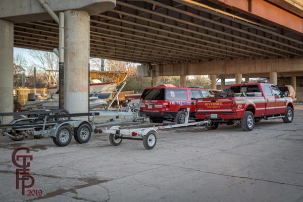 FD utility trucks and boat trailers