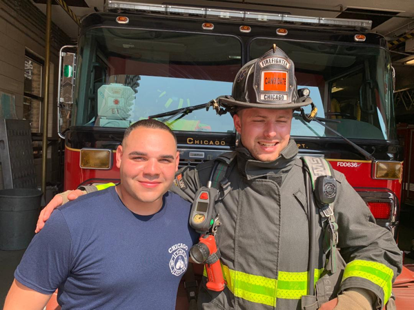 tourist receives Chicago firefighter  hospitality