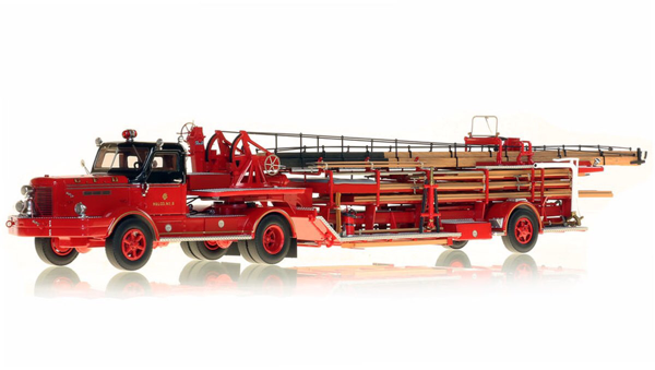 Fire Replicas model of a CHICAGO FIRE DEPARTMENT 1954 FWD 85' TRACTOR-DRAWN AERIAL