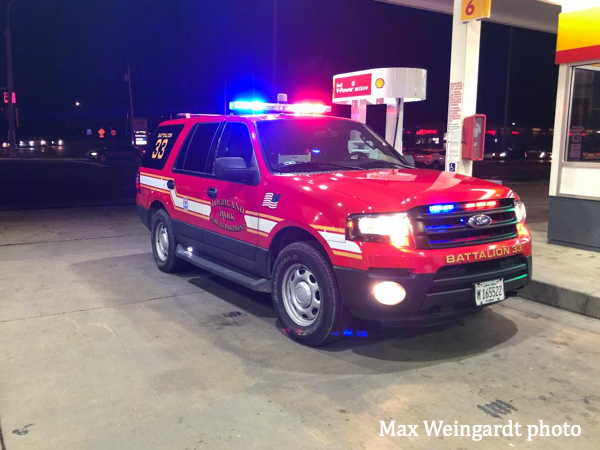 Ford Expedition fire chief car