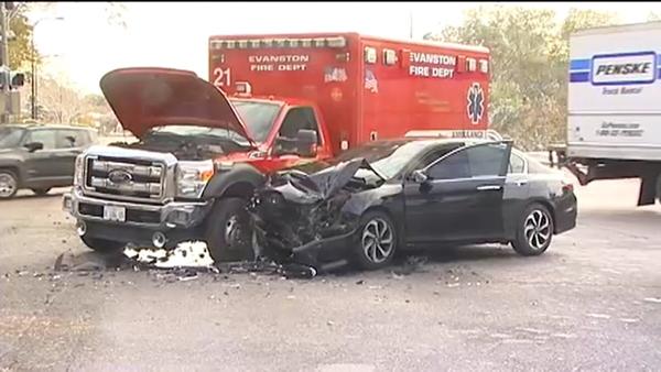 car and ambulance crash