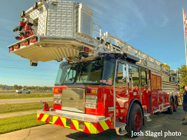 new E-ONE tower ladder