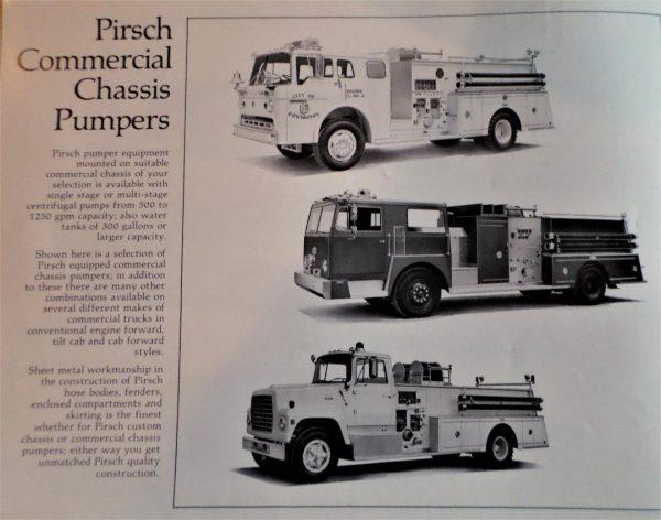 classic Pirsch fire truck literature