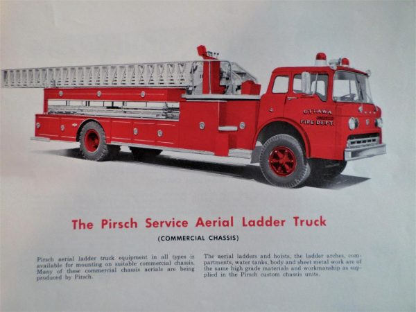 classic Pirsch fire truck aerial literature