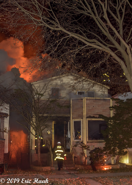 fire chief enters burning house