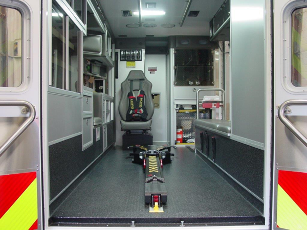 Stryker Power Load cot in new ambulance