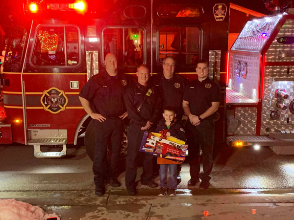 Brownsburg firefighters deliver toys