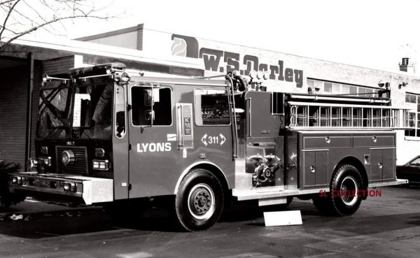 Lyons FIre Department history