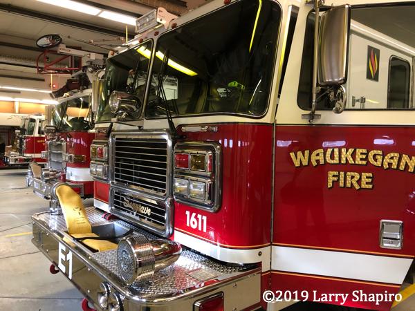Waukegan fire trucks