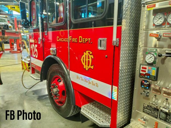 repaired Chicago fire engine ready for service