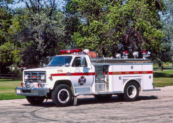 Peotone FPD 1976 GMC/E-One midi pumper/squad