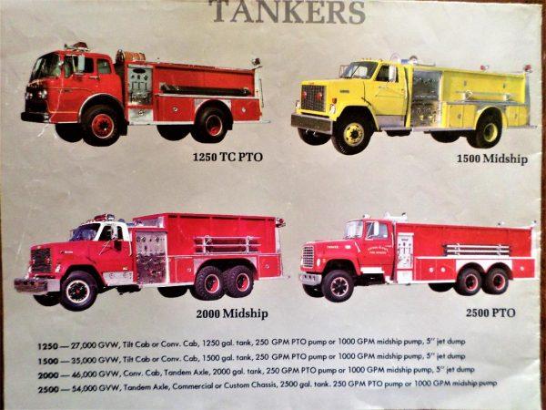 early Emergency One fire truck brochure