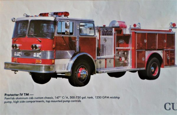 early Emergency One fire truck brochure