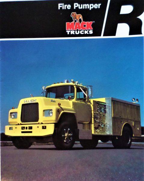 classic Mack fire truck brochure