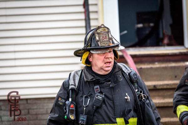 Firefighter with dirty face after a fire