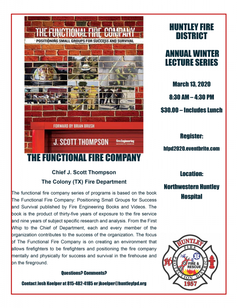 "Huntley FPD to sponsor ""The Functional Fire Company"""