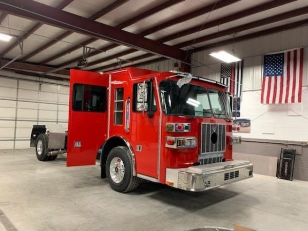 new Sutphen fire engine chassis for the Bloomingdale FPD